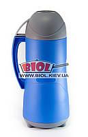 Термос 1,8л пластиковый со стеклянной колбой (цвет - синий) Stenson DB118SX-2