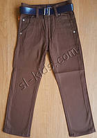 Штаны,джинсы демисезонные для мальчика 11-15 лет(розн)(коричневые) пр.Турция