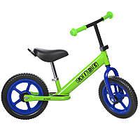Беговел PROFI KIDS детский 12 д. M 3473-4 колеса EVA, пласт.обод, зеленый