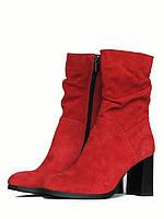 Весенние ботинки из красной замши, фото 1