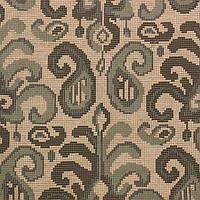 Жаккардовая ткань для штор и декора DALLAS-7 с голубым орнаментом Икат