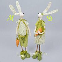 Пасхальный декор статуэтка Заяц мальчик и девочка