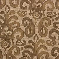 Жаккардовая ткань для штор и декора DALLAS-4 с коричневым орнаментом Икат