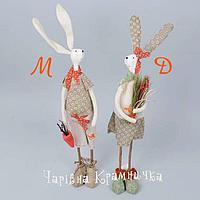 Декор на Пасху статуэтки влюблённые кролики