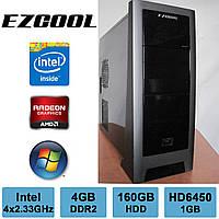 EZCOOL - Intel 4 ЯДРА /4GB DDR2 /Radeon HD6450 1GB /160GB HDD