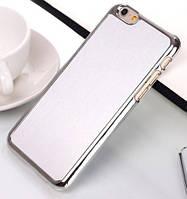 """Хромированная накладка с алюминиевой вставкой для Apple iPhone 6/6s (4.7"""")  Серебряный"""