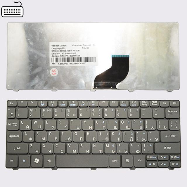 Клавиатура для ноутбука Acer EMACHINES 350 rus, black