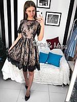 Женское стильное платье из кружева