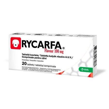 РИКАРФА 100 мг RYCARFA противовоспалительные таблетки для лечение опорно-двигательного аппарата у собак,20 таб