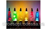 Лава лампа 37см (парафиновая лампа, глиттер лампа)