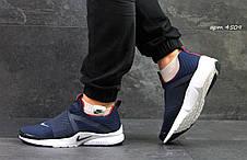 Кроссовки Nike air presto темно синие с белым, фото 2