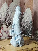 17 см. Сладострастное мыло ЧЛЕН с голой девушкой, сидящей на его яйцах и слизывающей сперму. Голубой