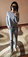 Костюм спортивный с разрезами (кофта и брюки), фото 1