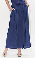 Летняя юбка макси Borita Zaps цвета джинс, коллекция весна-лето 2018, фото 1