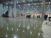 Монолитные бетонные полы с топпингом