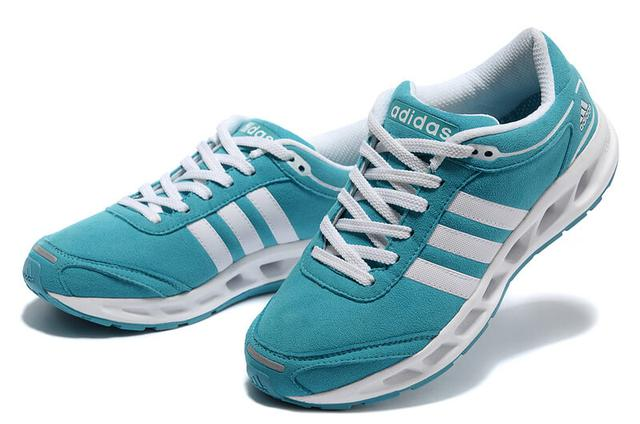 Adidas Running Shoes Blue White Aqua Cc. Solution Women