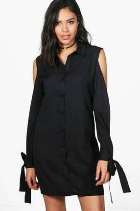 Новое платье-рубашка с разрезами на рукавах Boohoo, фото 2