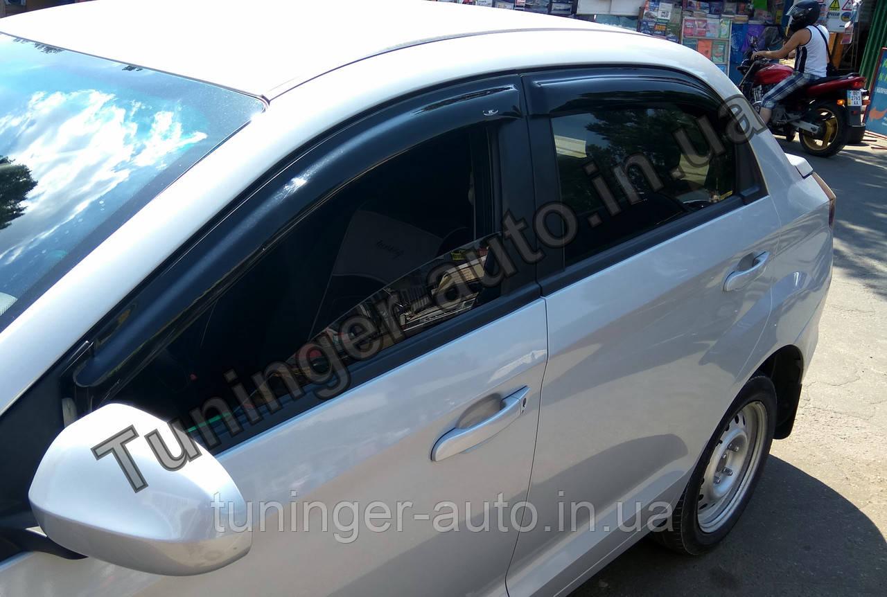 Дефлектори вікон (Вітровики) Zaz Forza (Sedan) 2008-2015