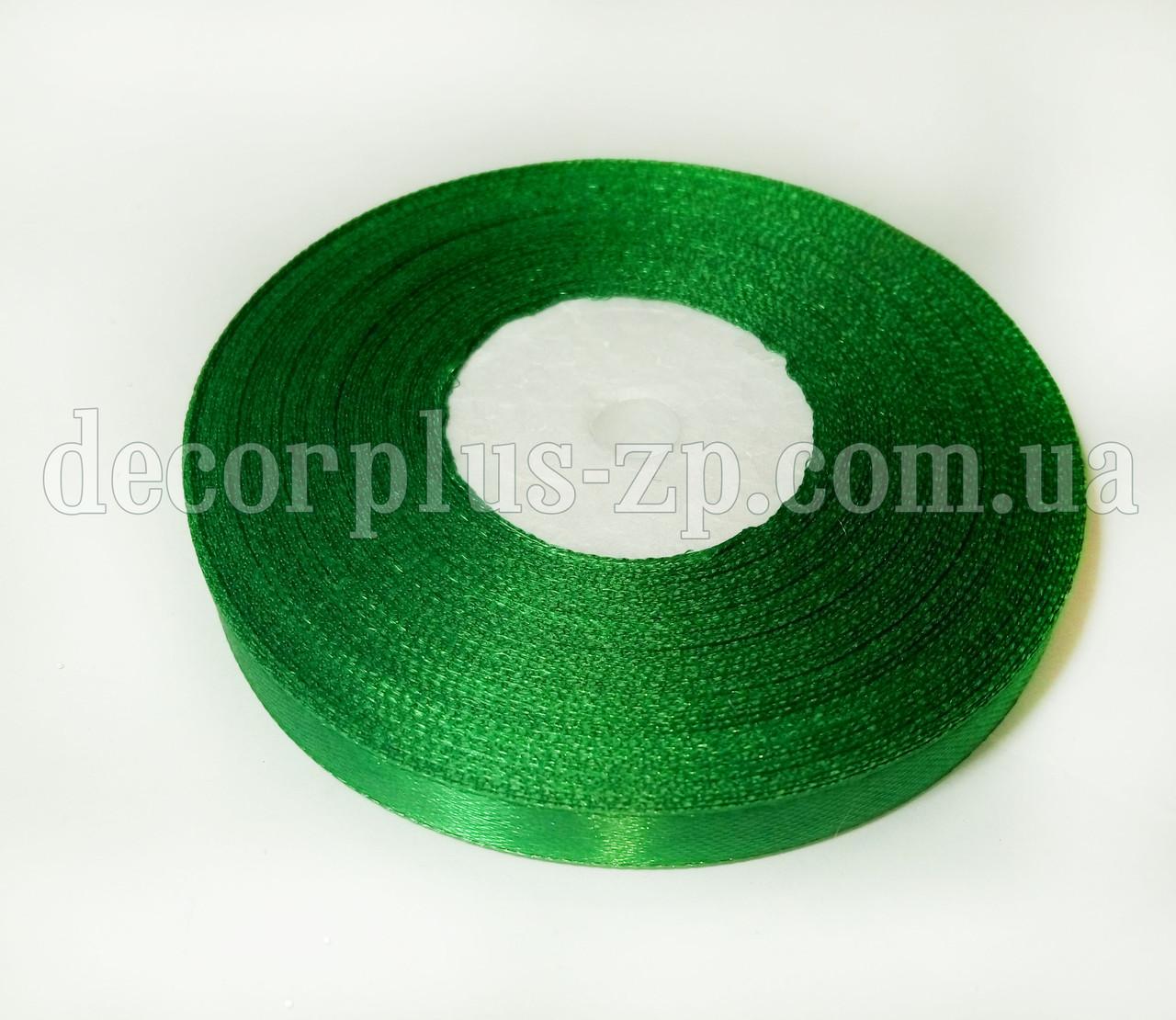 Лента атласная 0,9см зеленая