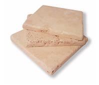 Плитка белая травертиновая состаренная не заполненная 10х10