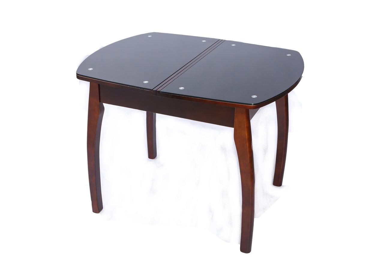 Прямоугольный раскладной стол WT35 со стеклянной столешницей