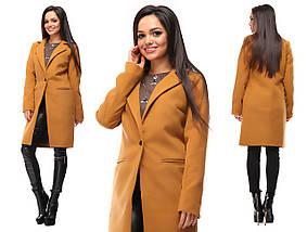 """Женское демисезонное кашемировое пальто """"VB"""" с карманами (5 цветов), фото 3"""