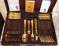 Набор Столовых Приборов Solingen - HartVergoldet ПОЗОЛОТА 23 карат -70 предметов в Кейсе Золинген