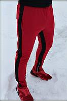 Спортивные штаны мужские с полосками зеленые/черные/красные