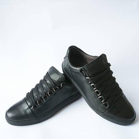 Detta обувь : мужские, черные, кожаные, ортопедические кеды