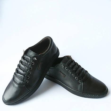 Мужская кожаная обувь Detta   черные, кожаные мокасины с ортопедической  стелькой 36b80c379c6