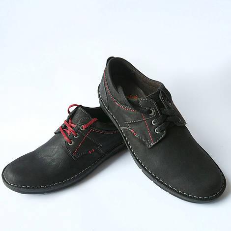 Мужская обувь  Detta : черные мокасины, натуральный нубук верх, ортопедическая середина, из натуральной  кожи