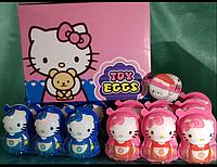 Яйцо шоколадное пластиковое Toy Egg 24 шт, 15 гр Hello kitty