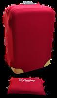 Чехол на чемодан из неопрена бордо S