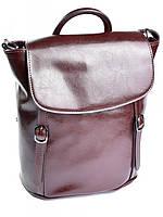 Кожаная сумка рюкзак 8158 кофейная, фото 1