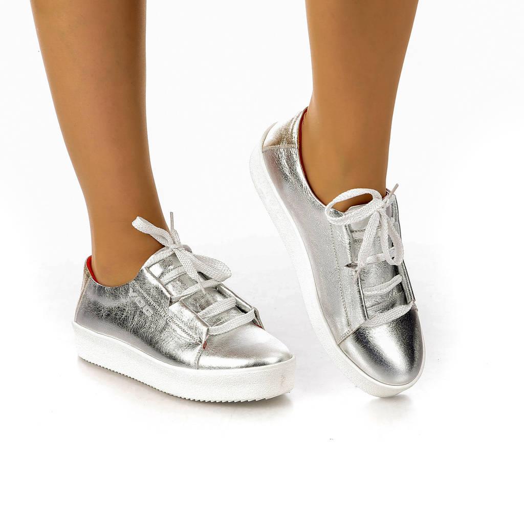 8098.1 | Женские туфли на низкой платформе и шнуровке (36-40)