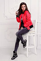 "Короткая женская куртка на синтепоне ""ROFER"" с манжетами (4 цвета), фото 2"