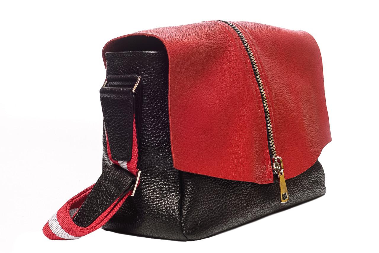 fee98512c124 Стильная удобная женская кожаная сумка на каждый день, натуральная  итальянская кожа. Зима 2018/