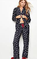 Мягкая и комфортная фланелевая пижама от Виктория Сикрет.