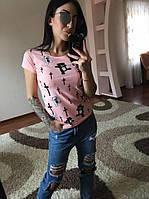 Женская стильная футболка с мишками и воздушными шариками