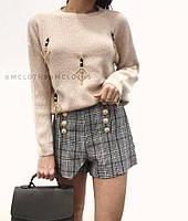 Женские стильные шорты в клетку (2 расцветки), фото 1