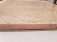 Плитка белая травертиновая 30x30 полированная, заполненная