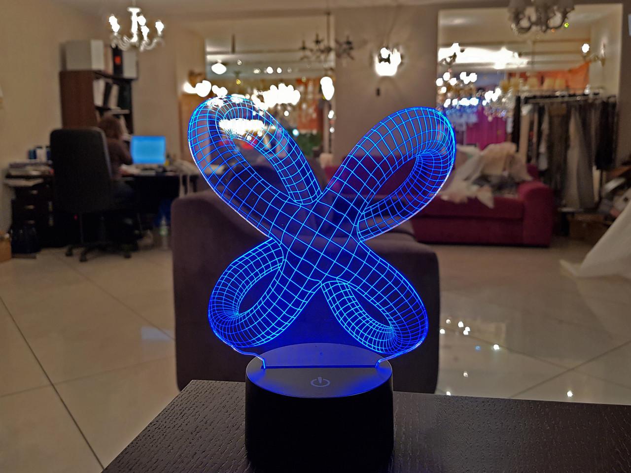 """3D светильник """"Цикличность"""" 3DTOYSLAMP, фото 1"""