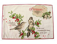 Сэт-Салфетка подкладка под тарелку хлопковая Holiday Wishes, арт. LT-ТМ4541