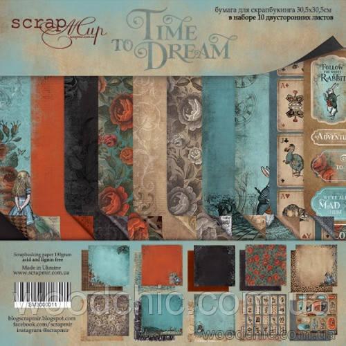 Набор двусторонней бумаги 30х30см Time to Dream (eng.)