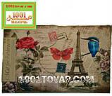 """Набор из 2-х ковриков с 3D печатью """"Цветы"""" в ванную 80х50 см. и туалет 40х50 см., фото 8"""