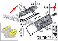 Ремкомплект клапана регулировки давления BMW 11127547058 двиг. N62,N62N (OEM BMW)