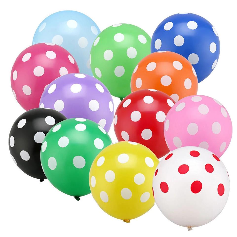 """Повітряні кульки """"Веселий Горошок"""" асорті 30 див."""