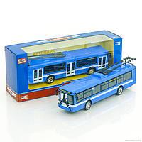 Инерционный Тролейбус металлопластик 6407 В открываются двери HN