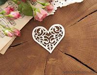 Чипборд Сердце ажурное 3