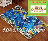 """Набор из 2-х ковриков с 3D печатью """"Цветы"""" в ванную 80х50 см. и туалет 40х50 см., фото 3"""